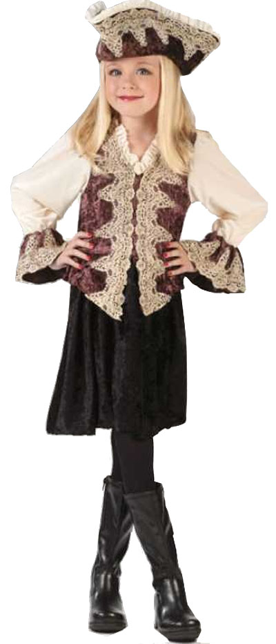 Child's Royal Pirate Lady Costume