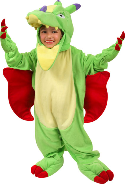 Plush Child's Dragon Costume