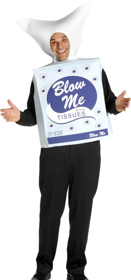 Blow Me Tissue Box Easy Costume