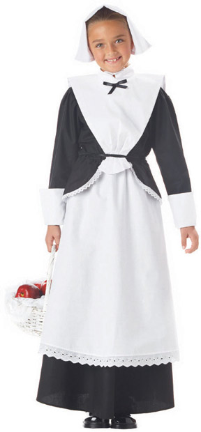Child's Pilgrim Dress Costume