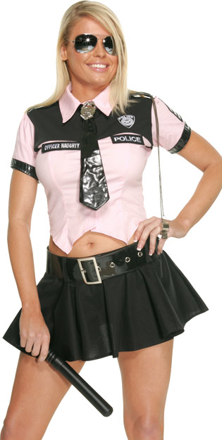 Pink Sexy Cop Costume