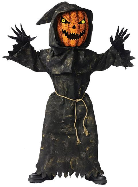 Child's Bobble Head Pumpkin Costume