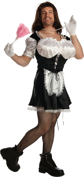 Men's Funny French Maid Costume