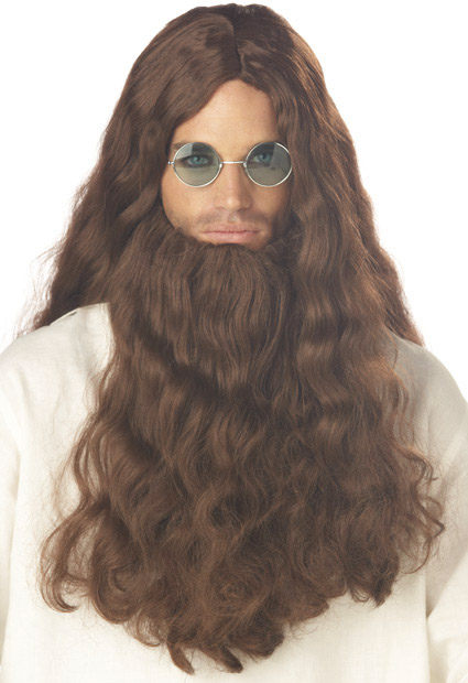 Men's Love Guru Costume Wig And Beard