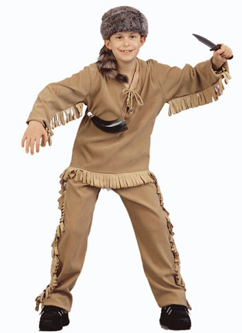 Child's Deluxe Frontier Man Costume