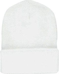 Beanie Ski Cap Hat in White