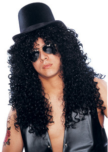 Adult 80s Guitar Player Wig