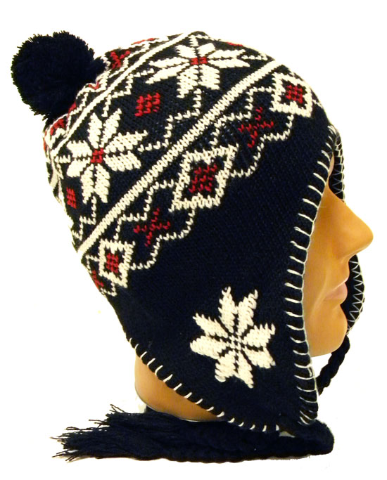 Knit Beanie with Ear Flaps