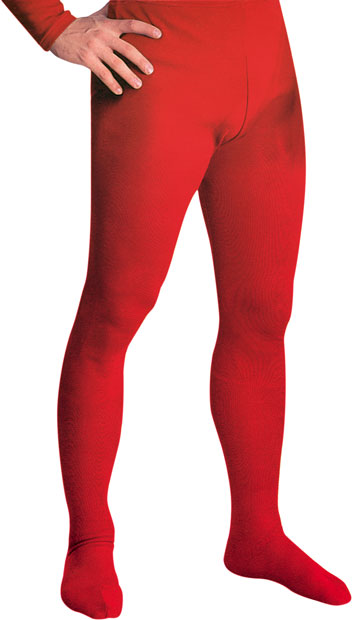 Red Men's Tights