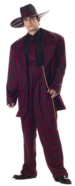 Adult Red & Black Zoot Suit Costume