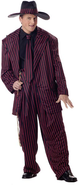 Plus Size Red & Black Zoot Suit Costume