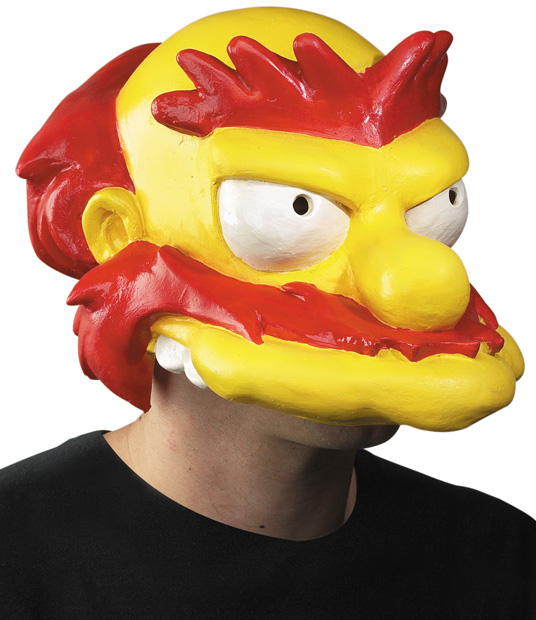 The Simpsons Grounds Keeper Willie Costume Mask