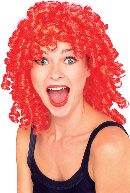 Adult Red Curly Costume Wig