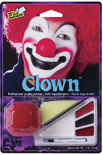 clown face paint makeup kits clown halloween makeup kit w nose