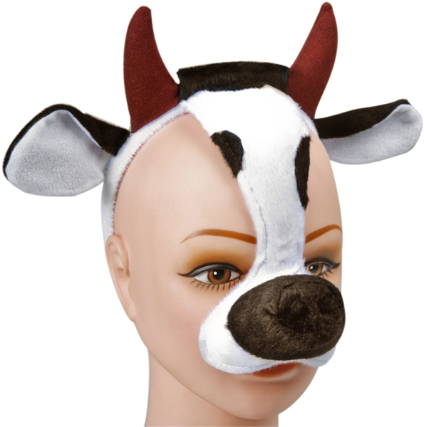 Adult Cow Headband with Horns Ears and Nose