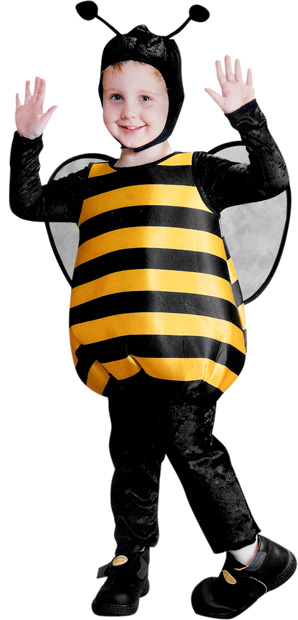 Toddler Fluffy Bumble Bee Costume