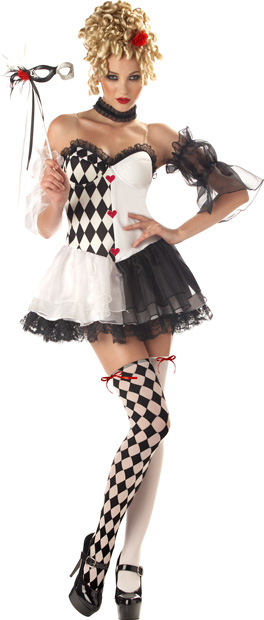 Woman's Le Belle Harlequin Costume