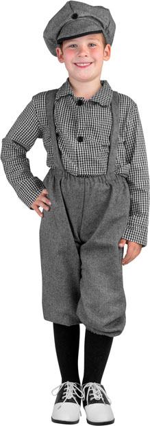 Child's Old Fashioned Newsboy Costume
