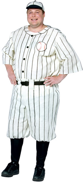 Plus Size Babe Ruth Costume