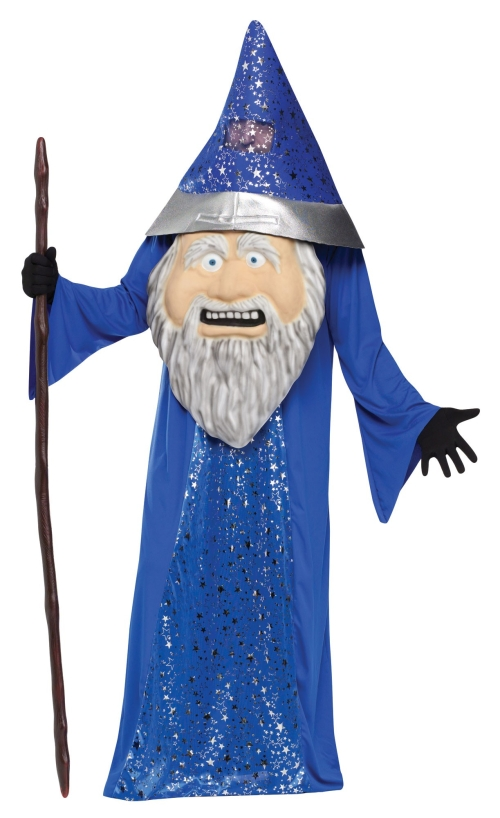adults funny huge head wizard costume standard