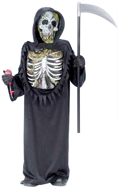 Child's Bleeding Skeleton Zombie Costume