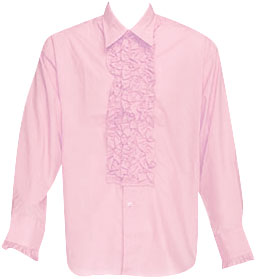 Pink Ruffled Tuxedo Shirt Theater Costume