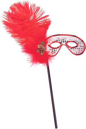Red Feather Stick Eye Mask