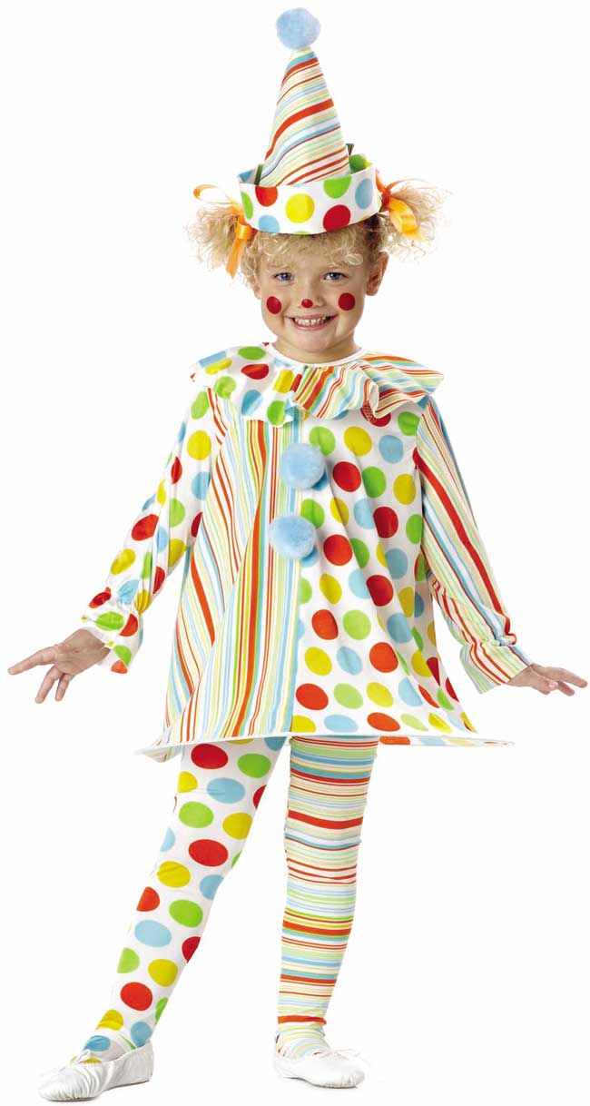Toddler Girl's Candy Clown Costume