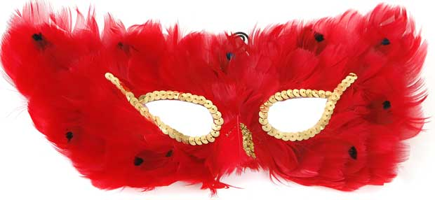Red Feather Eye Mask