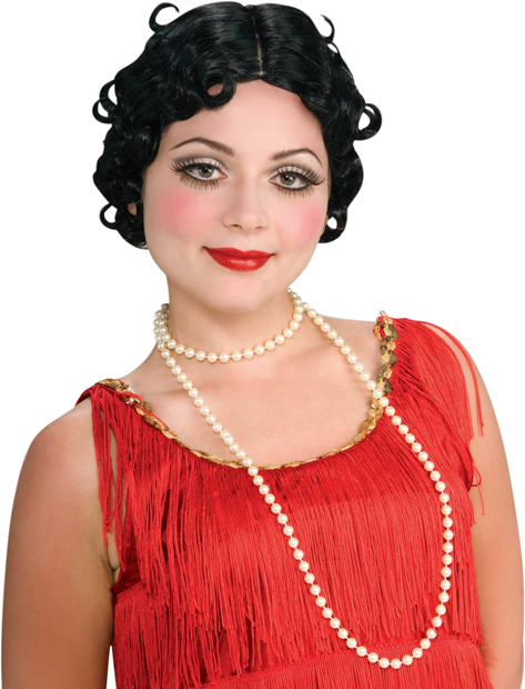 Women's Black Flapper Betty Boop Wig