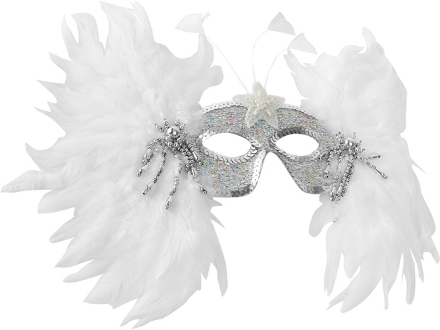 Snowflake Feather Eye Mask