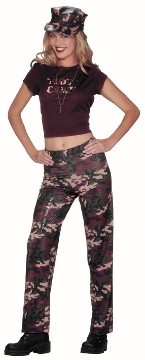 Women's Boot Camp Army Costume