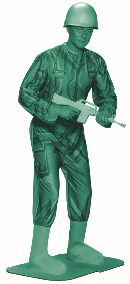 Adult Green Army Man Costume