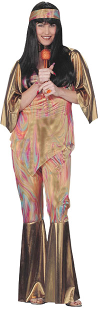 Adult 70's Hippie Style Costume