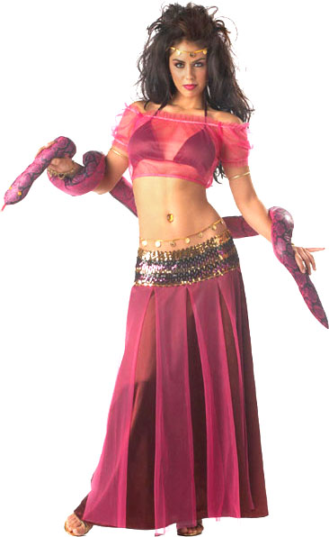 Adult Women's Snake Charmer Costume