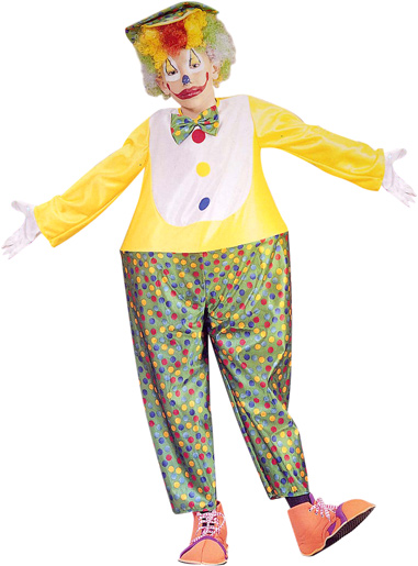 Child's Hooped Baggy Clown Costume