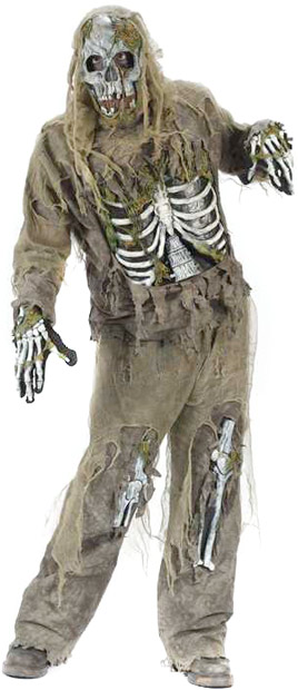 Teen Skeleton Zombie Costume