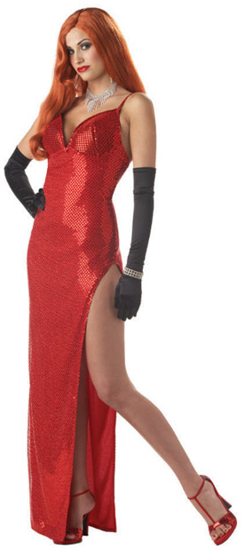 Adult Jessica Rabbit Costume Dress