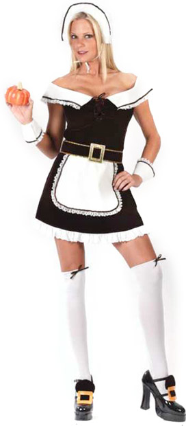 Adult Sexy Pilgrim Girl Costume