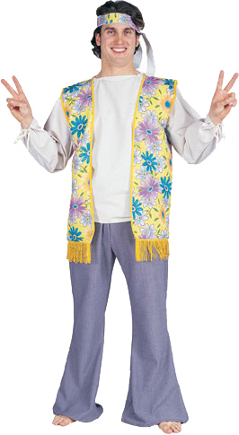 Adult 60's Guy Flower Child Costume