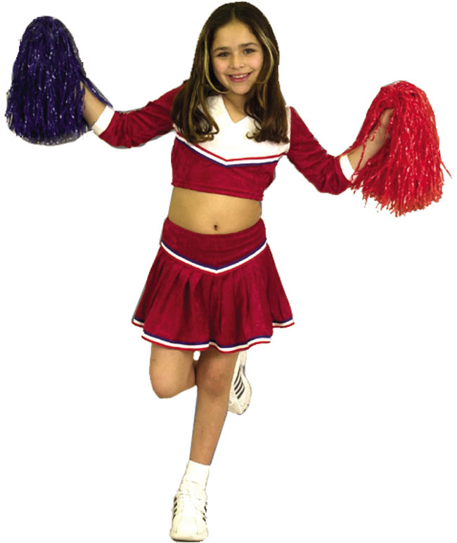 Child's Red/White Cheerleader Costume