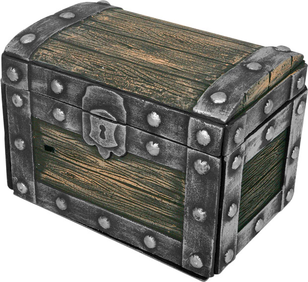 Fake Wooden Pirate Treasure Chest Prop