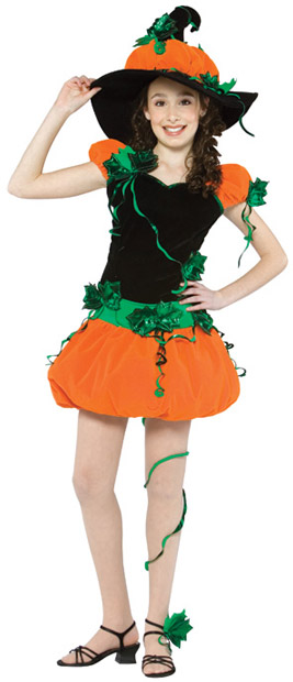 Teen Jack-O-Lantern Witch Costume