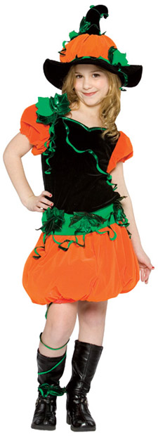 Child's Pumpkin Girl Costume