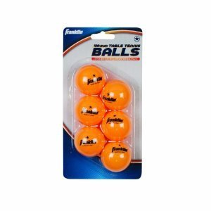 40mm Orange 1 Star Table Tennis Balls 6 Pack