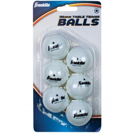 40mm White 1 Star Table Tennis Balls 6 Pack