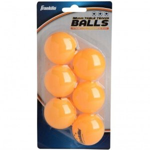 40mm Orange 3 Star Table Tennis Balls 6 Pack