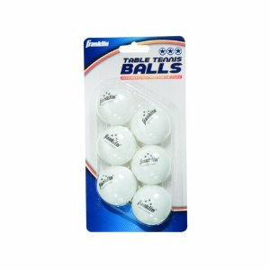 40mm White 3 Star Table Tennis Balls 6 Pack