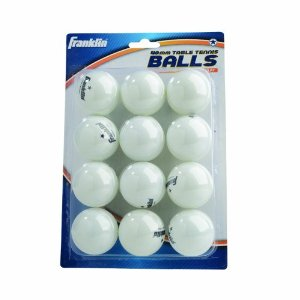 40mm White 1 Star Table Tennis Balls 12 Pack