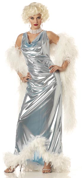 Adult Silver Actress Costume
